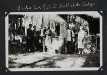 Charles M. Russell and Nancy C. Russell with Friends at Bull Head Lodge