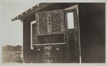 Wood Cabinet Outside of House