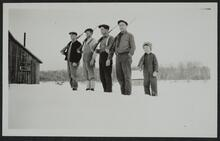 Line of Men and Boy with Guns