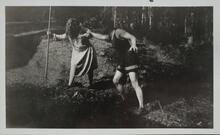 Man Grabbing Woman