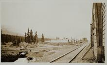 Railroad Tracks and Buildings