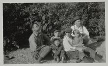 Two Men with Three Children