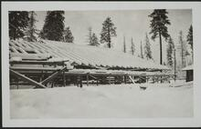 Exposed Roof Covered with Snow