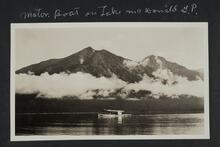 Motor Boat on Lake McDonald