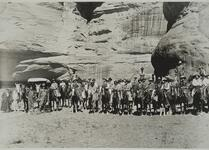 Russell and Eaton Party on Horseback at Antelope Ruins