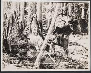 Charles M. Russell and Isabel Russell Dressed in Indian Costumes