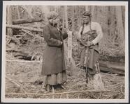 Nancy C. .Russell and Charles M. Russell in Costume