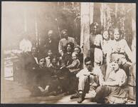 Large Group Posing at Bull Head Lodge