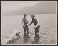 Charles M. Russell and Austin Russell Swimming