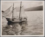 Model Sailing Ship on Lake