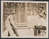 Charles M. Russell Painting Outside at Bull Head Lodge