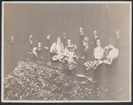 Charles M. Russell and Group around Campfire