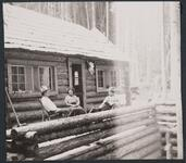 Charles M. Russell, Josephine Trigg, and Nancy C. Russell at Bull Head Lodge