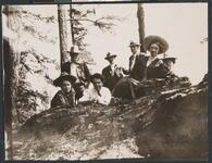 Charles M. Russell and Nancy C. Russell with Group