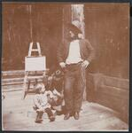 Charles M. Russell with Child and Woman
