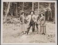 Isabel, , Austin, Charles M. Russell and Nancy C. Russell in Woods