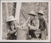 Isabel, Austin and Charlie M. Russell in Woods