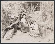 Charles M. Russell and Nancy C. Russell, Josephine Trigg, Ella Ironside, and Two Others