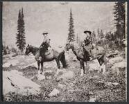 Nancy C. Russell and Josephine Trigg on Horseback
