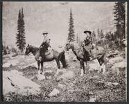 Nancy C. Russell and Josephine Trigg on Horseback