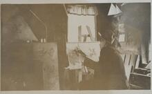 Charles M. Russell at Easel