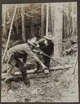 Charles M. Russell and Philip R. Goodwin in Woods