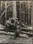 Charles and Nancy Russell, Philip R. Goodwin, and Unknown Woman  in the Woods