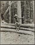 Charles M. Russell in the Woods.