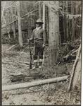 Philip R. Goodwin Standing at Attention in Woods