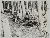 Charles Russell with Friends in Woods
