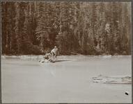 Charles M. Russell and Friend Fishing