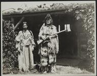 Charles M. Russell and Unknown Woman dressed as Native Americans
