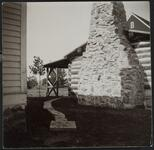 Log House with Brick Fireplace
