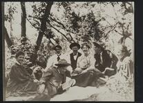 Charles M. Russell and Friends in Woods