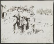 Three Men with Birds