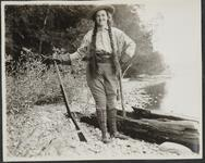 Isabel Russell with Rifle