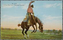 Man on Bucking Horse