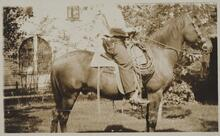 Photograph of Man on Horseback