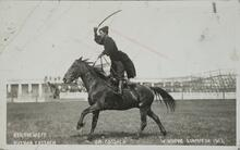 "Russian Cossack on ""Cossack"" Winnapeg Stampede 1913"