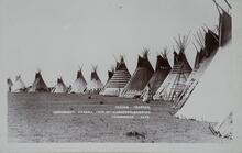 Postcard of Tipis