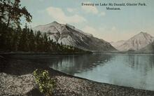 Postcard of Lake McDonald
