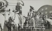 Postcard of Mounted Indian Chiefs