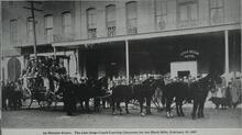 The Last State Coach Leaving Cheyenne for the Black Hills
