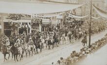 Postcard of Parade
