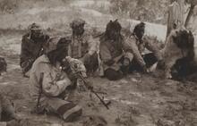 Postcard of Indian Men Smoking Pipe