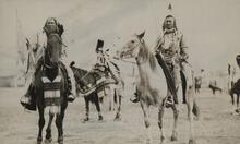 Postcard of Indian Men on Horses