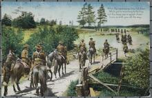 Postcard of Military Men on Horses