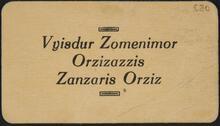 Vyisdur Zomenimor Orzizazzis Zanzaris Orziz