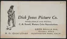 Dick Jones Picture Company Business Card