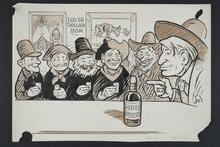 Group of Men at the Silver Dollar Bar